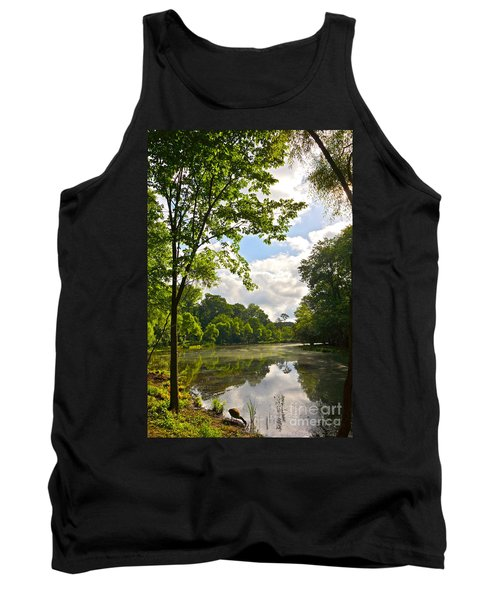 July Fourth Duck Pond With Goose Tank Top
