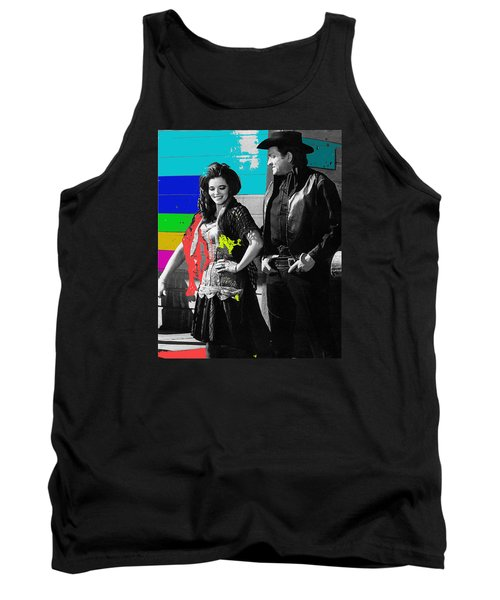 Tank Top featuring the photograph June Carter Cash Johnny Cash In Costume Old Tucson Az 1971-2008 by David Lee Guss