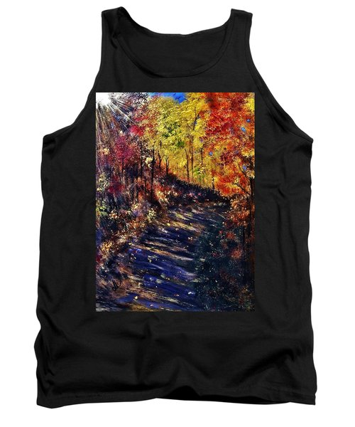 Tank Top featuring the painting Just The Sound Of The Forest... by Cristina Mihailescu
