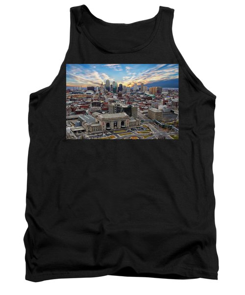 Kansas City Skyline Tank Top by Anthony Dezenzio