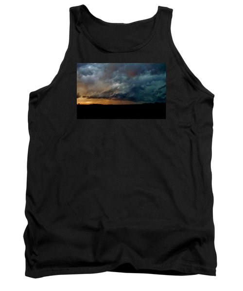 Tank Top featuring the photograph Kansas Tornado At Sunset by Ed Sweeney