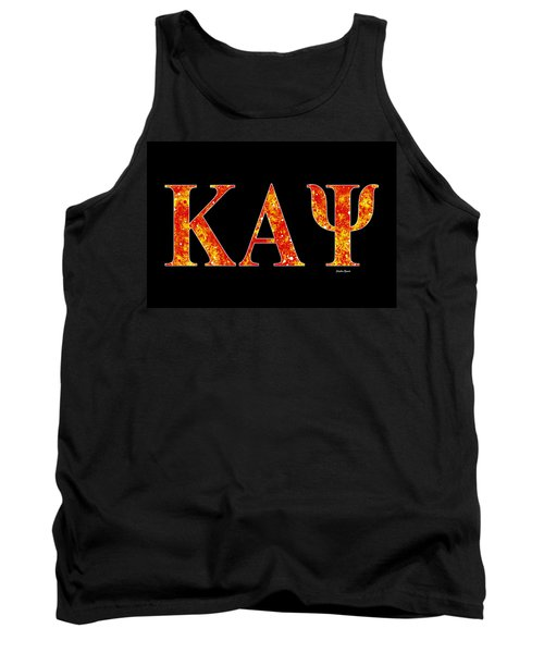 Tank Top featuring the digital art Kappa Alpha Psi - Black by Stephen Younts