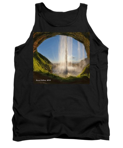 Tank Top featuring the painting Karen's Waterfalls by Bruce Nutting