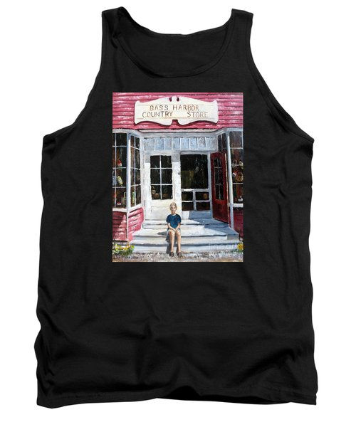 Tank Top featuring the painting Katie At Bass Harbor Maine by Lee Piper