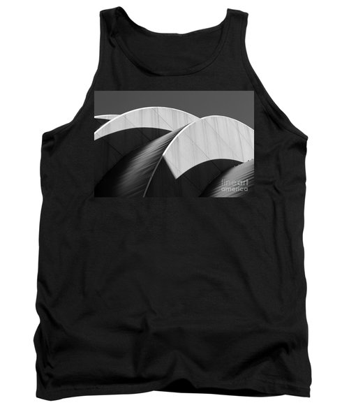 Kauffman Center Curves And Shadows Black And White Tank Top