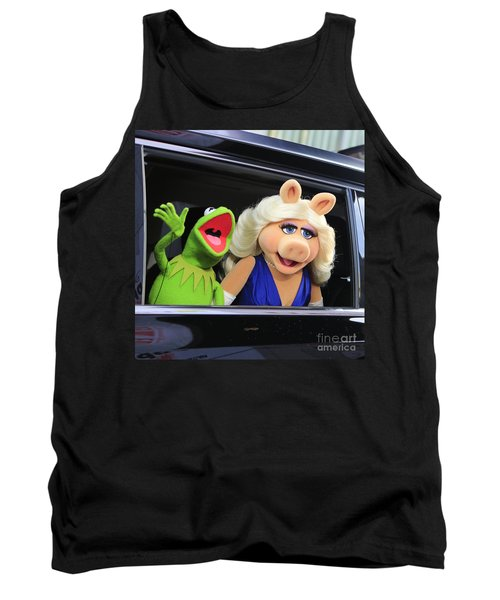 Kermit Takes Miss Piggy To The Movies Tank Top by Nina Prommer