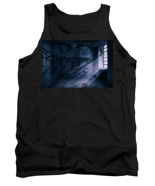Tank Top featuring the photograph Killer Behind You - Abandoned Hospital Asylum by Gary Heller
