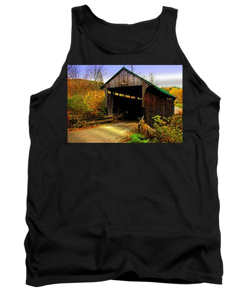 Tank Top featuring the photograph Kissing Bridge by Bill Howard