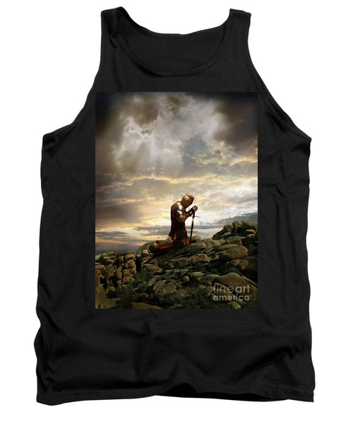 Kneeling Knight Tank Top