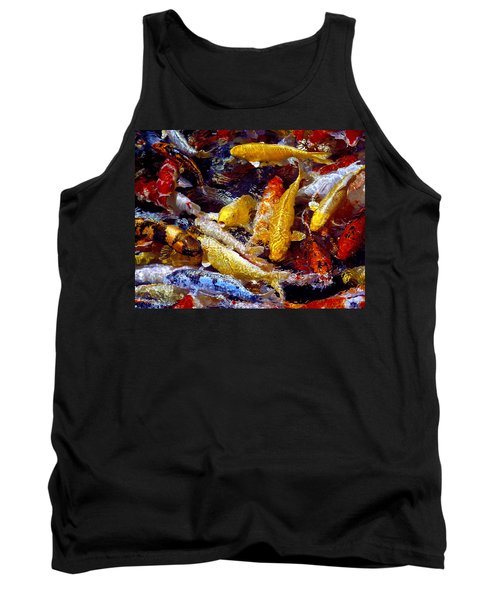 Tank Top featuring the photograph Koi Pond by Marie Hicks