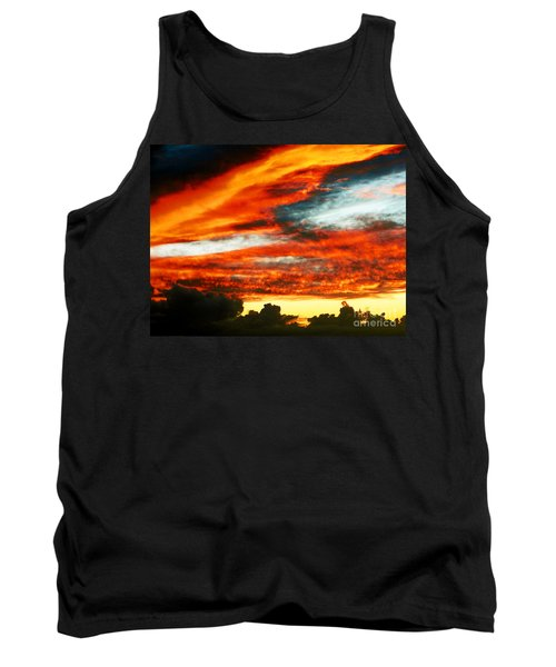 Tank Top featuring the photograph Kona Sunset 77 Lava In The Sky  by David Lawson