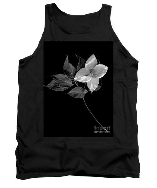 Kousa Dogwood In Black And White Tank Top