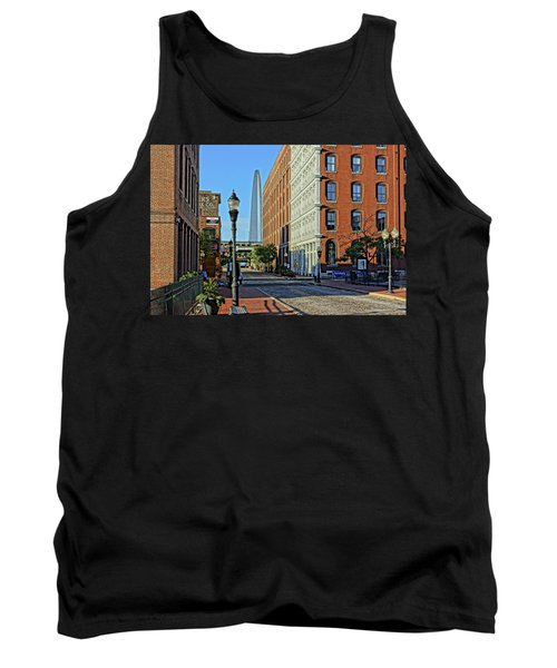 Laclede's Landing Just North Of The Arch Tank Top by Greg Kluempers