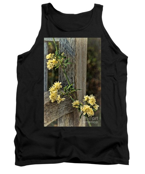 Tank Top featuring the photograph Lady Banks Rose by Peggy Hughes