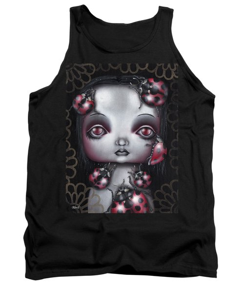 Lady Bug Girl Tank Top by Abril Andrade Griffith