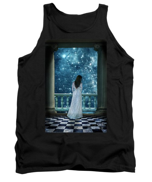 Lady On Balcony At Night Tank Top
