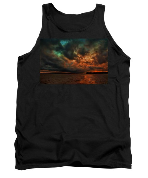 Lake Murray Fire Sky Tank Top