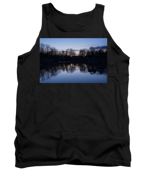 Lake Ontario Blue Hour Infused With Purple Tank Top