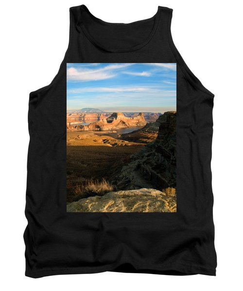Tank Top featuring the photograph Lake Powell From Alstrum Pt 02 by Jeff Brunton