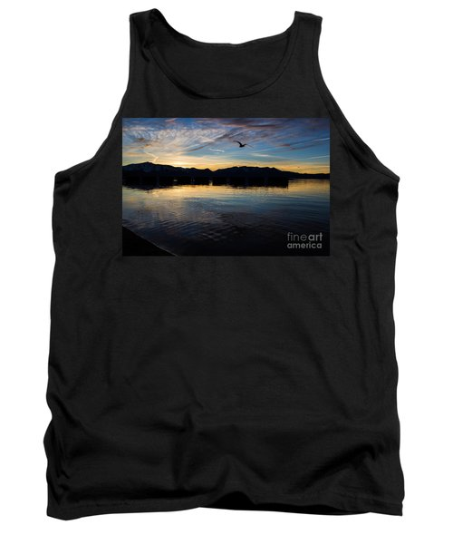 Lake Tahoe Sunset Tank Top by Suzanne Luft