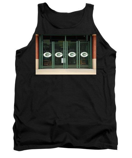 Lambeau Field - Green Bay Packers Tank Top by Frank Romeo