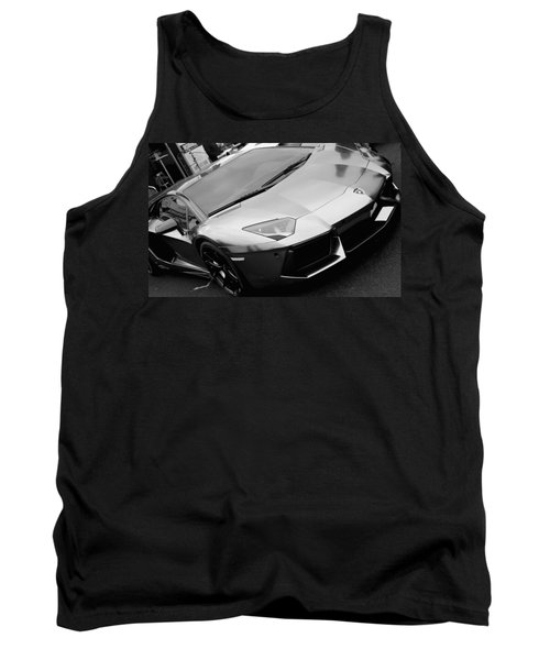 Black And White Shine Tank Top