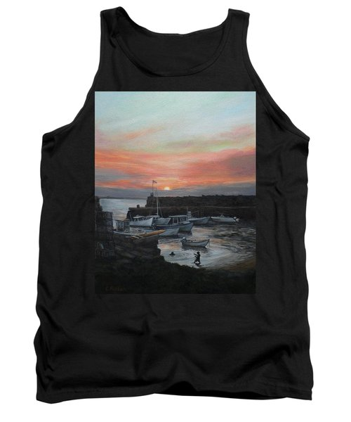 Lanes Cove Sunset Tank Top by Eileen Patten Oliver