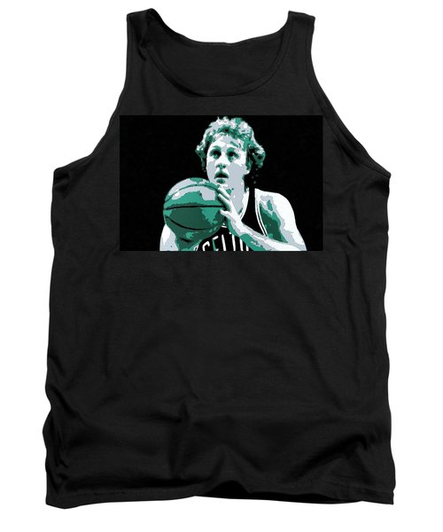 Larry Bird Poster Art Tank Top