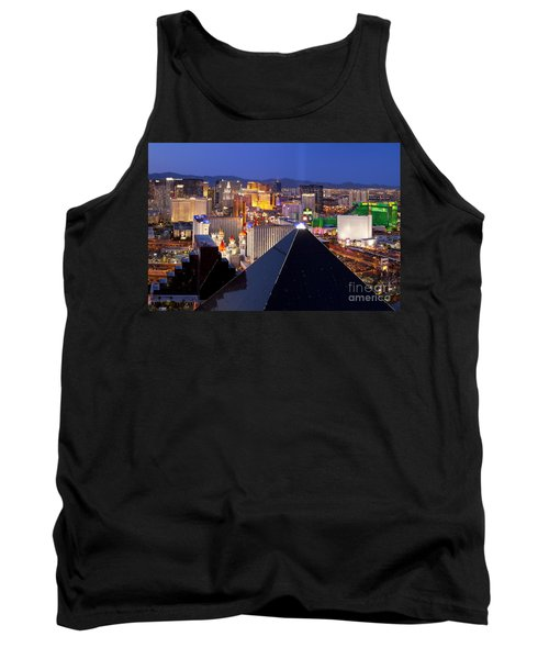 Las Vegas Skyline Tank Top by Brian Jannsen