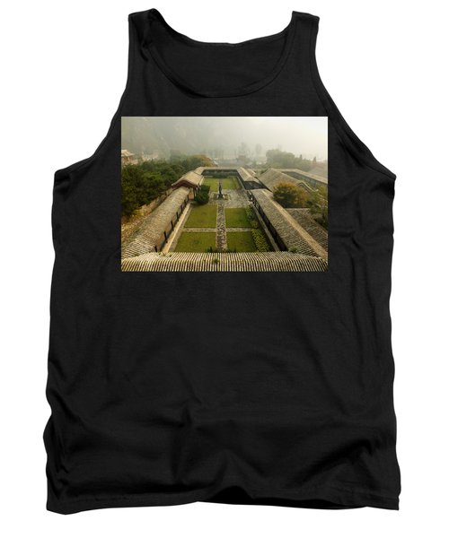 Tank Top featuring the photograph Late Morning Fog At The Great Wall  by Lucinda Walter