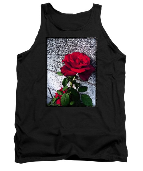 Tank Top featuring the photograph Late Summer Rose by Shawna Rowe