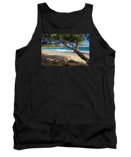 Tank Top featuring the photograph Lazy Day At The Beach by Suzanne Luft