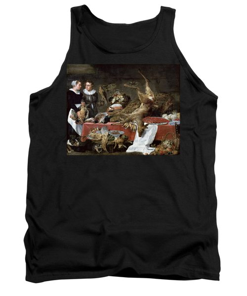 Le Cellier Oil On Canvas Tank Top by Frans Snyders or Snijders