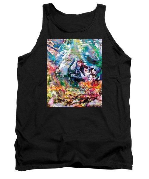 Led Zeppelin Original Painting Print  Tank Top by Ryan Rock Artist
