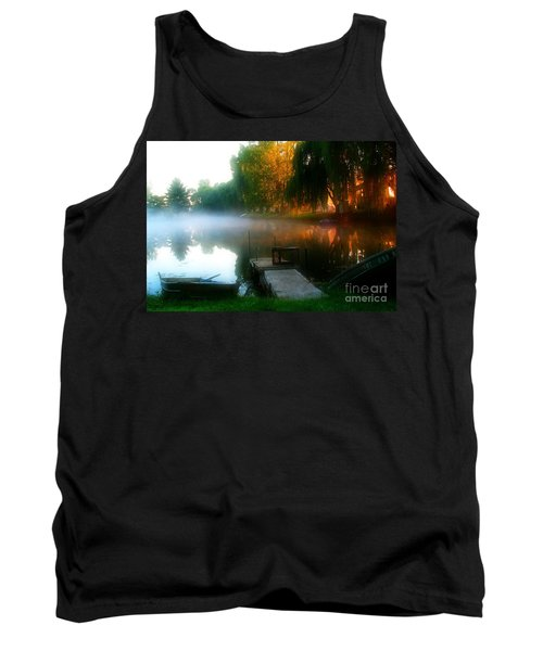 Leidy Lake Campground Tank Top by Douglas Stucky