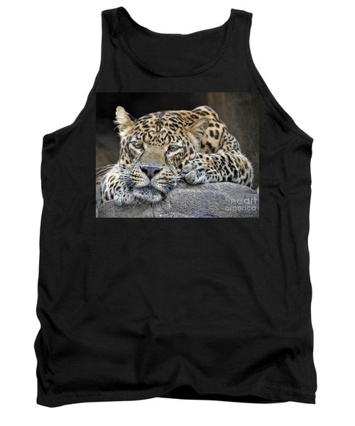 Tank Top featuring the photograph Leopard by Savannah Gibbs