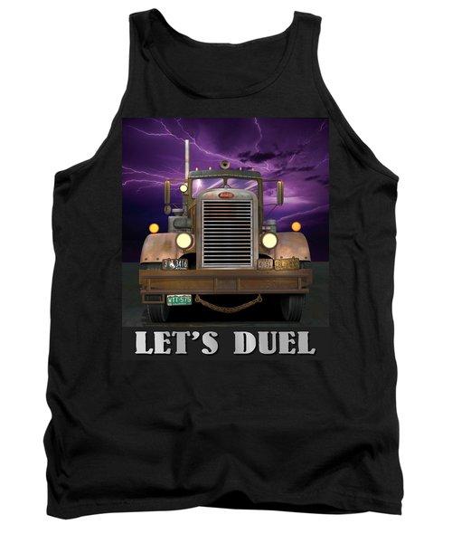 Let's Duel Tank Top by Stuart Swartz