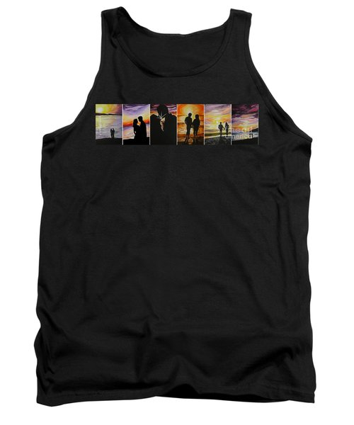 Tank Top featuring the painting Life's A Beach by Tamir Barkan