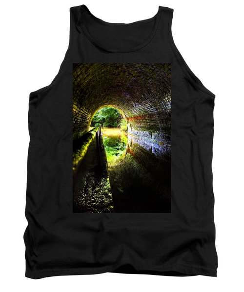 Tank Top featuring the photograph Light At The End Of The Tunnel by Meirion Matthias