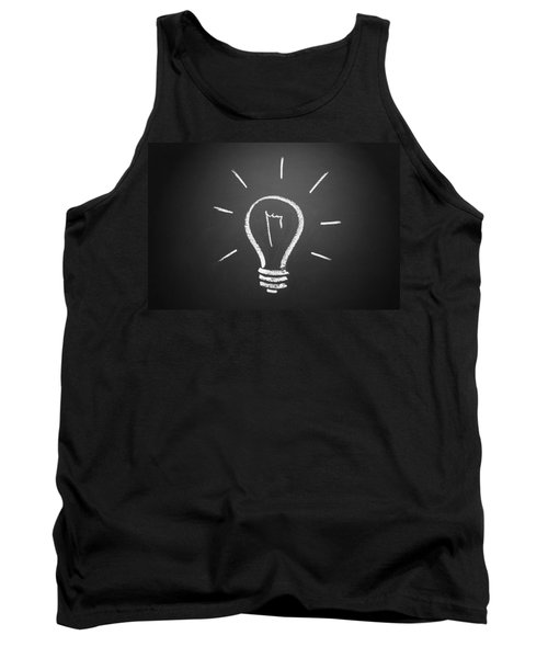 Light Bulb On A Chalkboard Tank Top