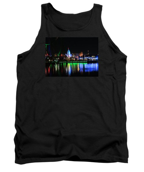 Light Reflections At Night Tank Top by Kathy Long