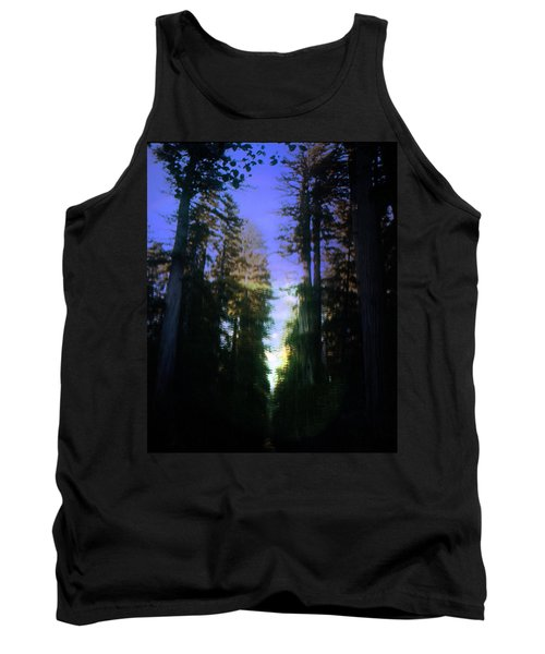 Tank Top featuring the digital art Light Through The Forest by Cathy Anderson