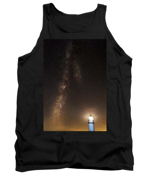 Lighthouse And Milky Way Tank Top