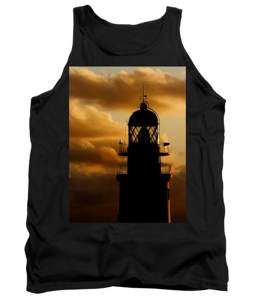 lighthouse dawn in the north coast of Menorca Tank Top by Pedro Cardona