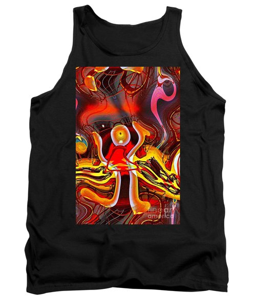 Lighthouse In Abstract Tank Top by Blair Stuart