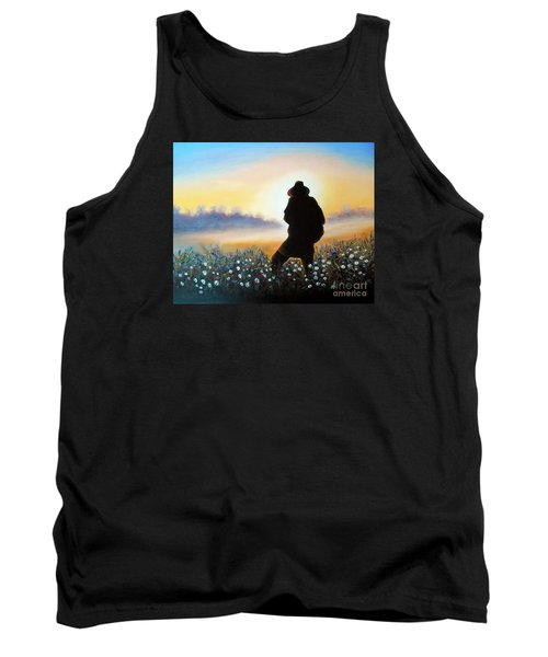 Tank Top featuring the painting Lighthunter by Vesna Martinjak