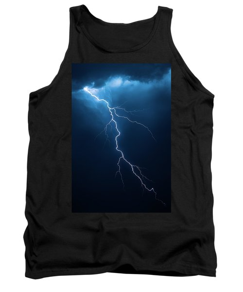 Lightning With Cloudscape Tank Top by Johan Swanepoel