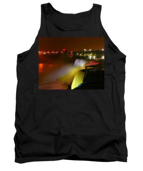 Lights On Niagara Falls Tank Top by Richard Engelbrecht