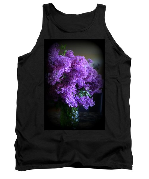 Lilac Bouquet Tank Top by Kay Novy