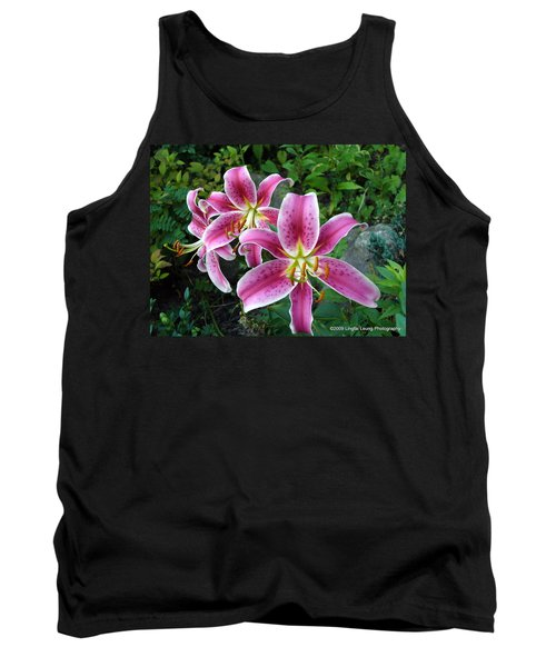 Tank Top featuring the photograph Lilies Of The Field by Lingfai Leung